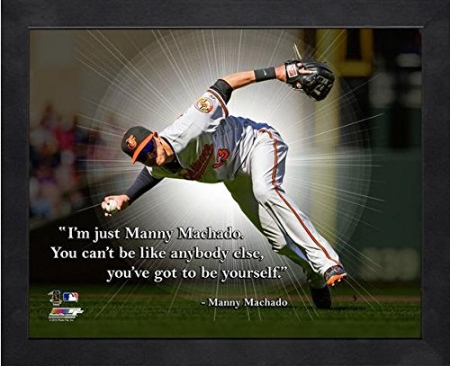 Manny Machado Baltimore Orioles ProQuotes Photo (Size: 12'' x 15'') Framed by Photo File