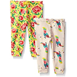 Rosie Pope Baby Newborn 2 Pack Pants (More Options Available), Floral/Parrot, 0-3 Months