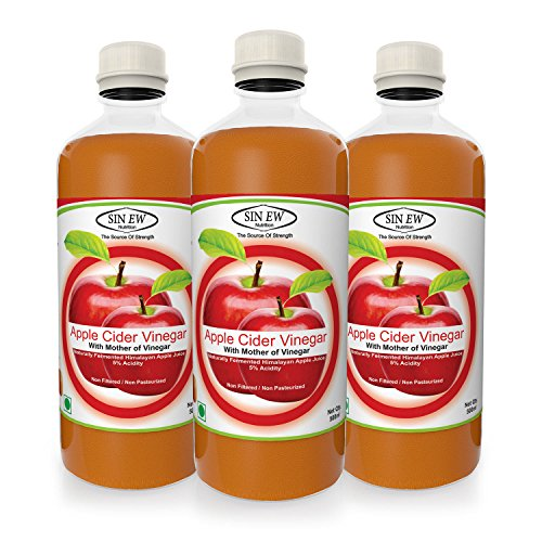 Sinew Raw Apple Cider Vinegar (Unfiltered & Unpasteurised) with strand of Mother 500ml (Pack of 3)