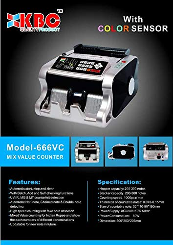 Model-666VC - Mix Note Value Counting Machine for Old & New