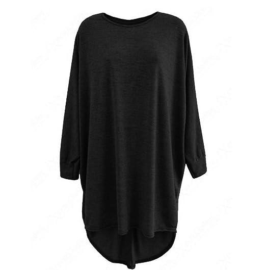 1f394760 Photno Long Batwing Sleeve Top Blouse Casual wear Women Baggy Shirts (S,  Black)