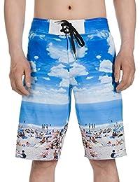 Men's Floral Print Quick Dry Boardshorts