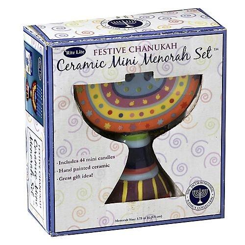Rosenthal Candle (Ceramic Mini Chanukah Menorah with Mini Candles)