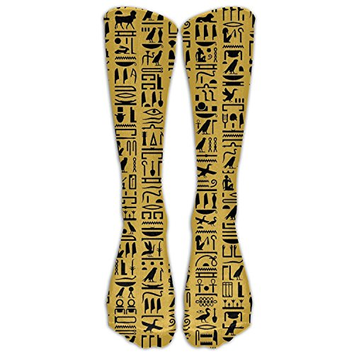 Cute Egyptian Costumes (MDIF Egyptian Hieroglyph Costume Cosply Socks Halloween Funny Champion Athletic Leggings Knee High Stockings)