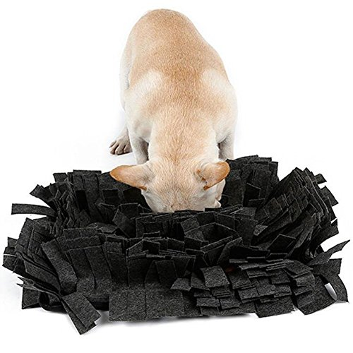 BOER INC 17.3x12.6 Pet Snuffle Mat for Dogs Slow Feeding Mat Dog Training and Feeding Mat Dog Play Mat for Small, Medium and Large Dogs (Pot Belly Dogs)
