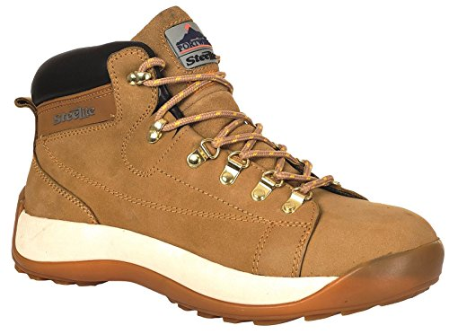 PORTWEST FW31 Steelite™ Mid Cut Nubuck Boot SB Honey FW31HO-R44