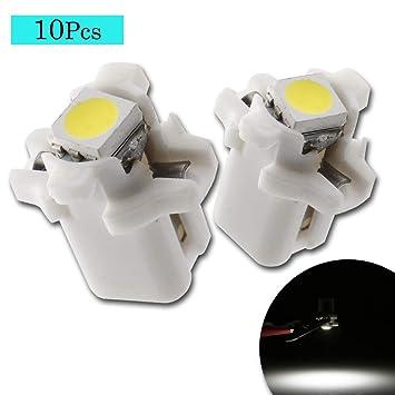 Grandview 10 pcs B8.5 5050 1SMD LED Salpicadero Bombilla Luz del Panel de instrumentos