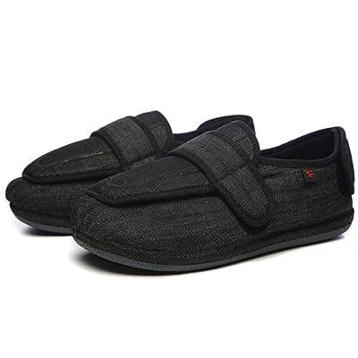 KIKIGOAL Unisex Premium Diabetic Slippers Arthritis Edema Shoes Adjustable Memory Foam Shoes: Shoes
