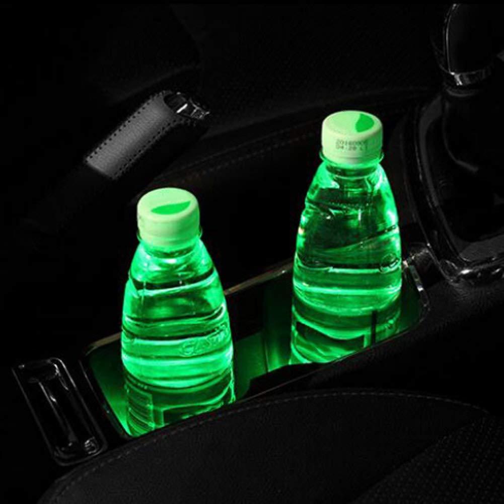 Liamostee Universel De Voiture Solaire LED Coupe Porte Pad Anti Glissement Bouteille Coaster Mat Car Styling