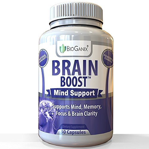 Bioganix Brain Boost Natural Brain Function Support Supplement   Mental Alertness Nootropic To Enhance Memory  Focus  Clarity   Energy  W Ginko Biloba Leaf  St  Johns Wort  Dmae  L Glutamine