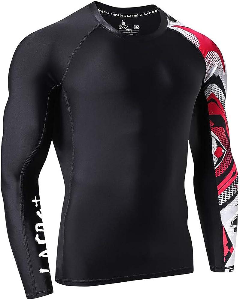 Baselayer Skins Performance Fit Compression Rash Guard-CLYYB LAFROI Mens Long Sleeve UPF 50