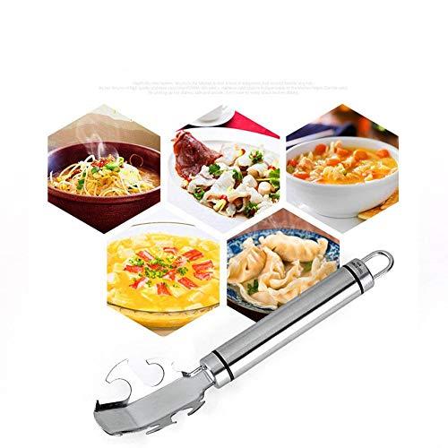 Shantan - Abrazadera de Acero Inoxidable para Platos de Cocina, abrebotellas multifunción, versátil, con Texto en inglés...