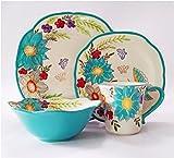 LG Dinnerware Set, 16-piece - Turquoise Blue