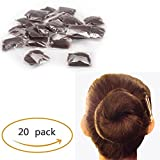 Pack of 20pcs Hair Nets Invisible Elastic Edge Mesh Fancy Look Hair (Dark Brown-20)