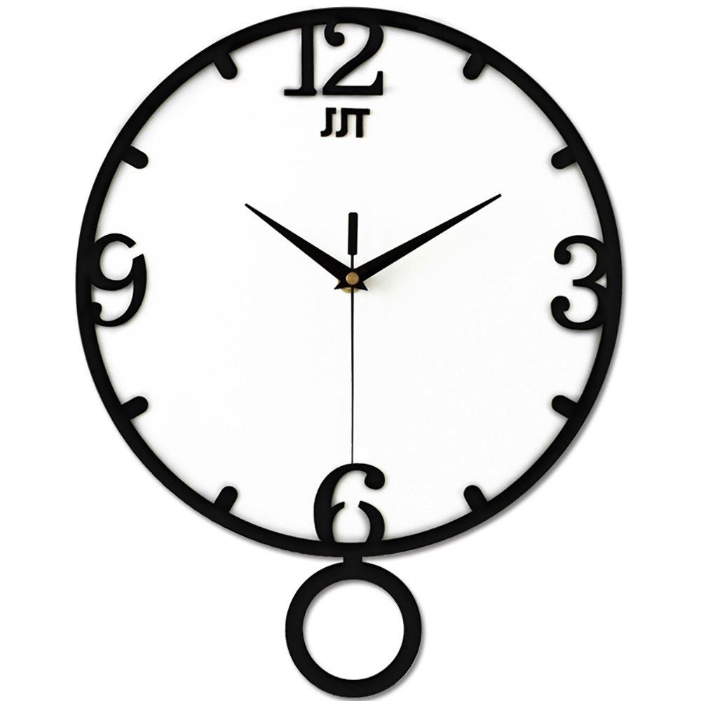 HSRG Wall Clock Silent Non-Ticking Round Classic Quartz Decorative Creative Swing Clock