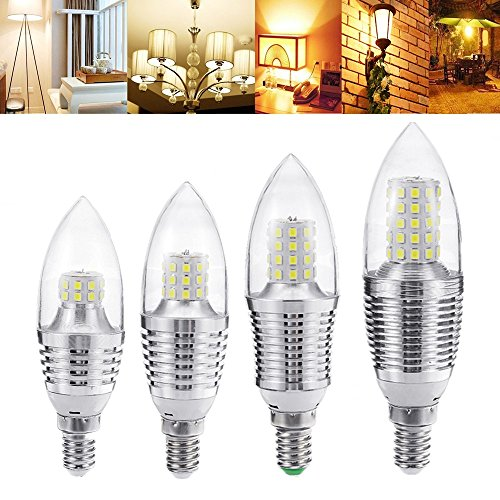 Lights & Lighting - E14 5w 7w 9w 12w Smd 2835 Sliver Led Candle Light Bulb Chandelier Lighting Ac85-265v - E14 Led Candle Bulb Bulbs 3w 5w 7w 230v White - 1PCs (Jefferson 9 Light Chandelier)