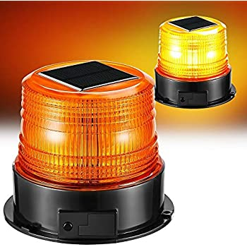 S8LSM BLUE STEADY-ON 2NM IP67 SOLAR LED MAGNETIC MOUNT Marina Dock Barge Boat Safety Beacon Light