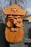 Large Cedar Pirate Birdhouse