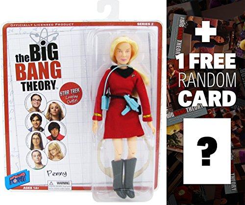 "Penny in Star Trek Uniform: ~8"" Big Bang Theory Action Figure + 1 FREE Official Big Bang Theory Trading Card Bundle"