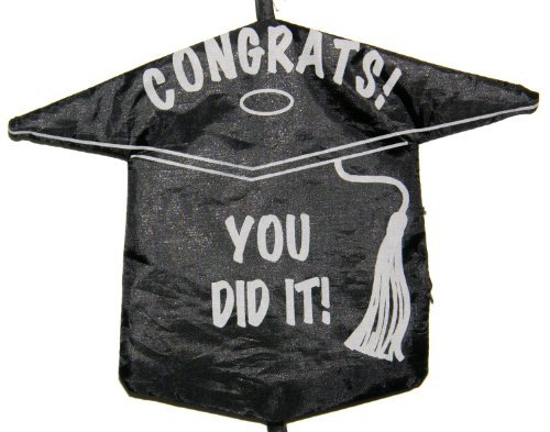Loomis International Black Graduation Contrats! You Did It! Spiral Windsock Windspinner, 45-inch