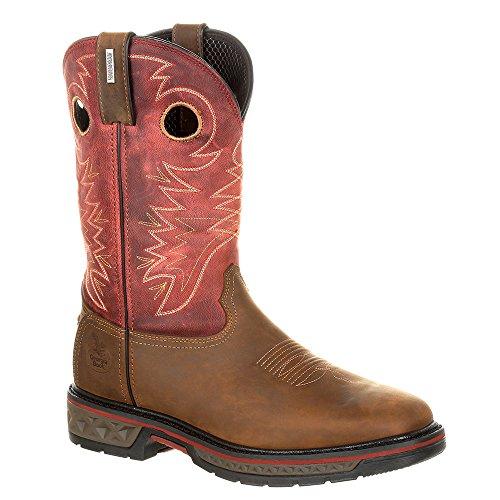 Georgia Boot Work Mens Rubber Waterproof Carbon-Tec Brown Red GB00222