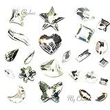 CRYSTAL (001) clear Swarovski Mix Shapes Flatbacks No Hotfix Rhinestones 10 pcs from Mychobos (Crystal-Wholesale)
