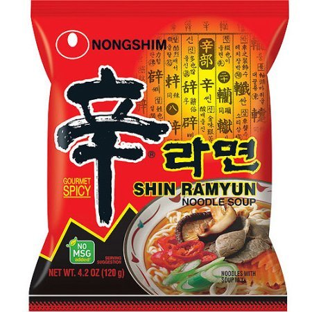 Nongshim Shin Ramyun Noodle Soup, Gourmet Spicy, 4.2 Ounce (Pack of 16) (Kimchi Noodle)