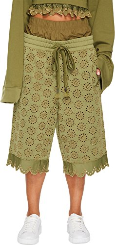 PUMA Women's Fenty Embroidered Long Shorts Olive Branch Large by PUMA