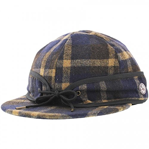 Vans Off The Wall Anti-Hero Fud Skateboard Hat Cap-Navy/Beige Plaid-S/M