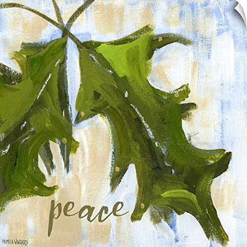 Peace Holly - CANVAS ON DEMAND Peace Holly Wall Peel Art Print, 24