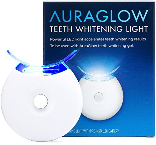 AuraGlow Teeth Whitening Accelerator Light, 5x More Powerful Blue LED Light, Whiten Teeth (Smile Teeth Whitening)
