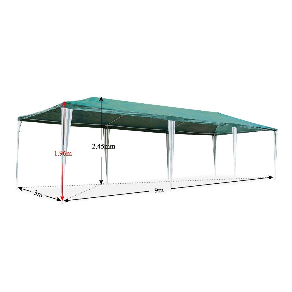 HG®Tonnelle Tente Pavillon de jardin étanche en polyéthylène et ...