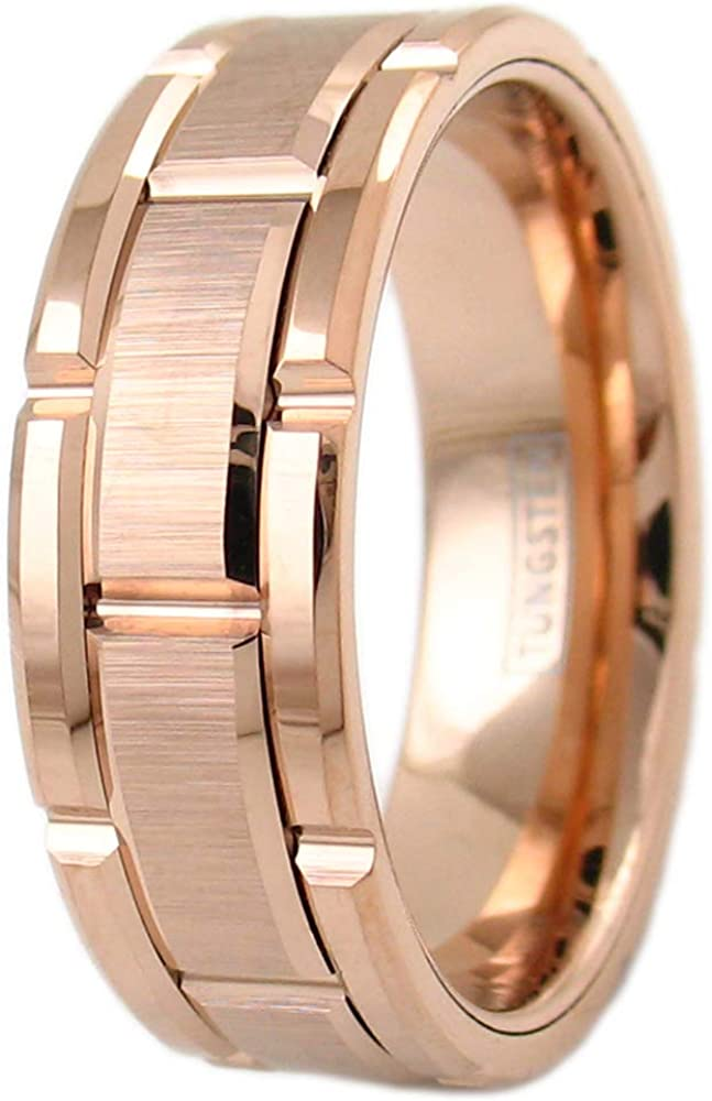 Tungsten Carbide Comfort Fit Flat Band Ring