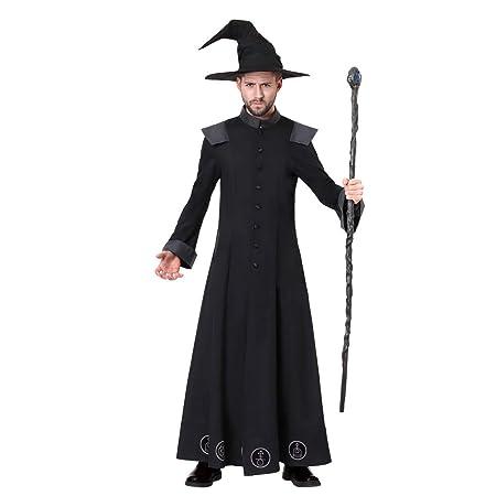 Home-soft Disfraz de Mago Oscuro para Adultos, Disfraz ...