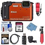 Nikon Coolpix W300 4K Wi-Fi Shock & Waterproof Digital Camera (Orange) with 32GB Card + Case + Flex Tripod + Float Strap + Ultimate Kit