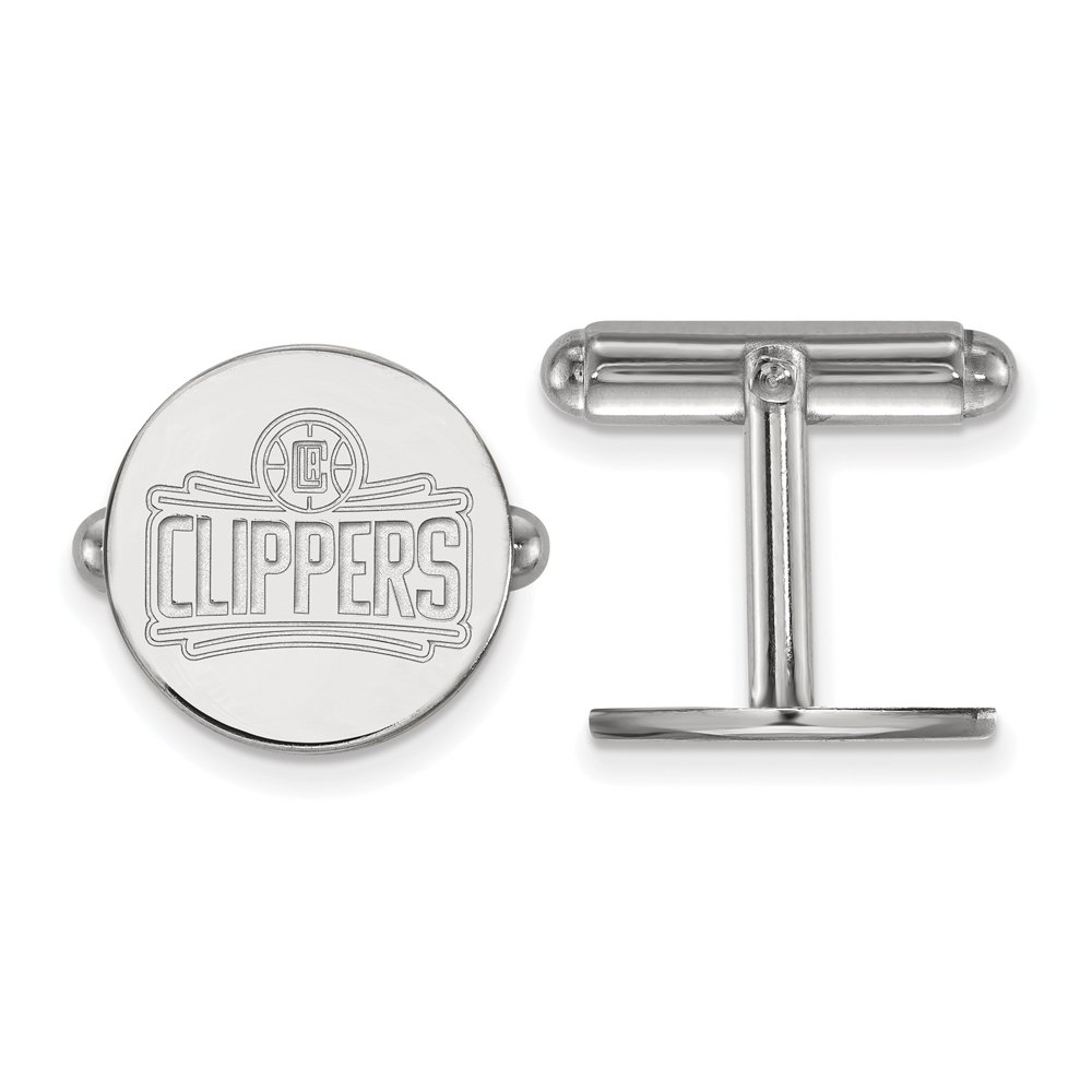 NBA Los Angeles Clippers Cuff Links in Rhodium Plated Sterling Silver