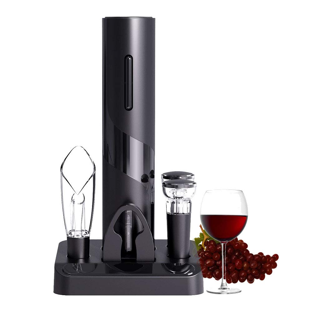 Cokunst Electric Wine Opener Set Cordless Electric Wine Bottle Corkscrew Opener with