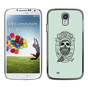 LECELL--Funda protectora / Cubierta / Piel For Samsung Galaxy S4 -- Maderas del inconformista cráneo --