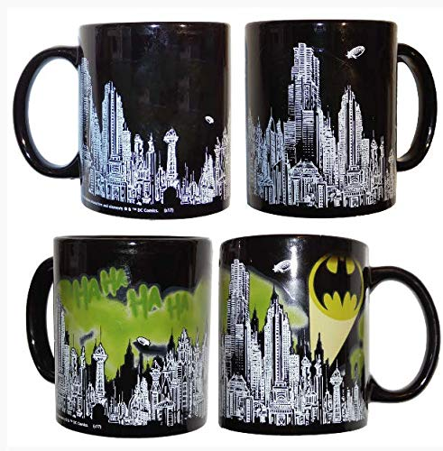 Batman Skyline Color Changing Mug - Loot Crate - Mug Skyline Large