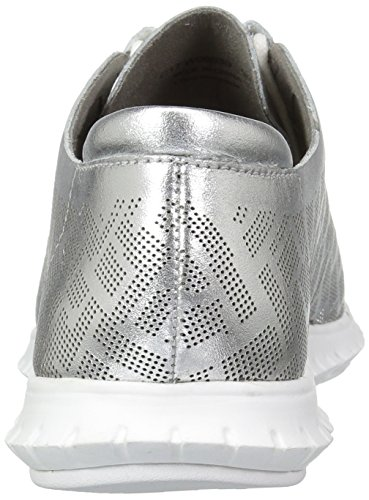 Optic Genevieve Women's Haan Leather Cole Zerogrand White Perf Ch Trainer Argento Perforated BvAqxqRwt