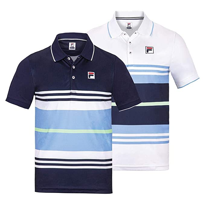 Amazon.com: Fila Men`s Legend Striped Tennis Polo (): Clothing