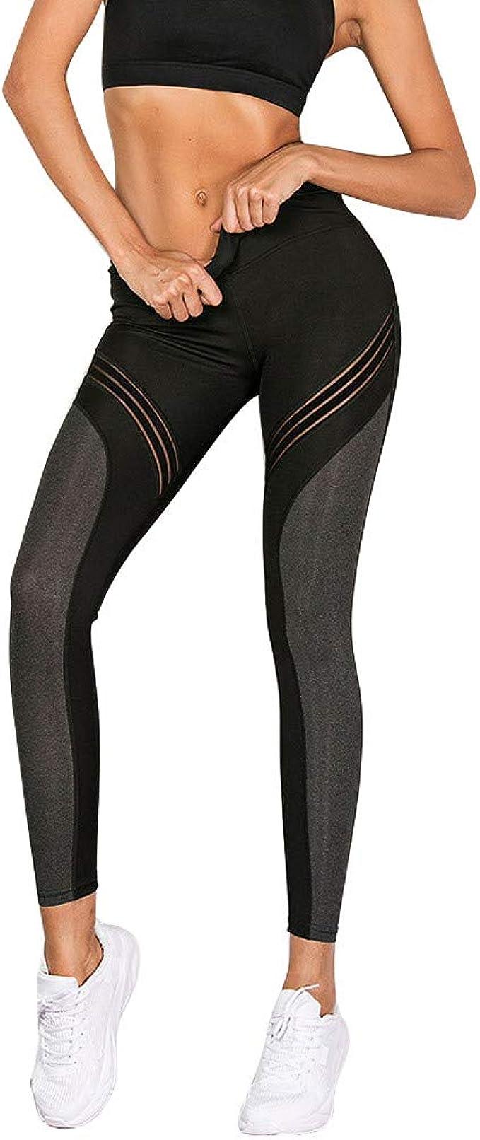 Amazon.com: Yoga Pants Womens Sports Zipper Fitness Hip-up ...