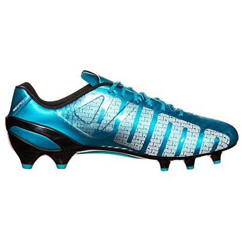 EvoSPEED 1,3 FG-Botas de fútbol, color azul, blanco y negro, diseño hawaiano Azul - azul