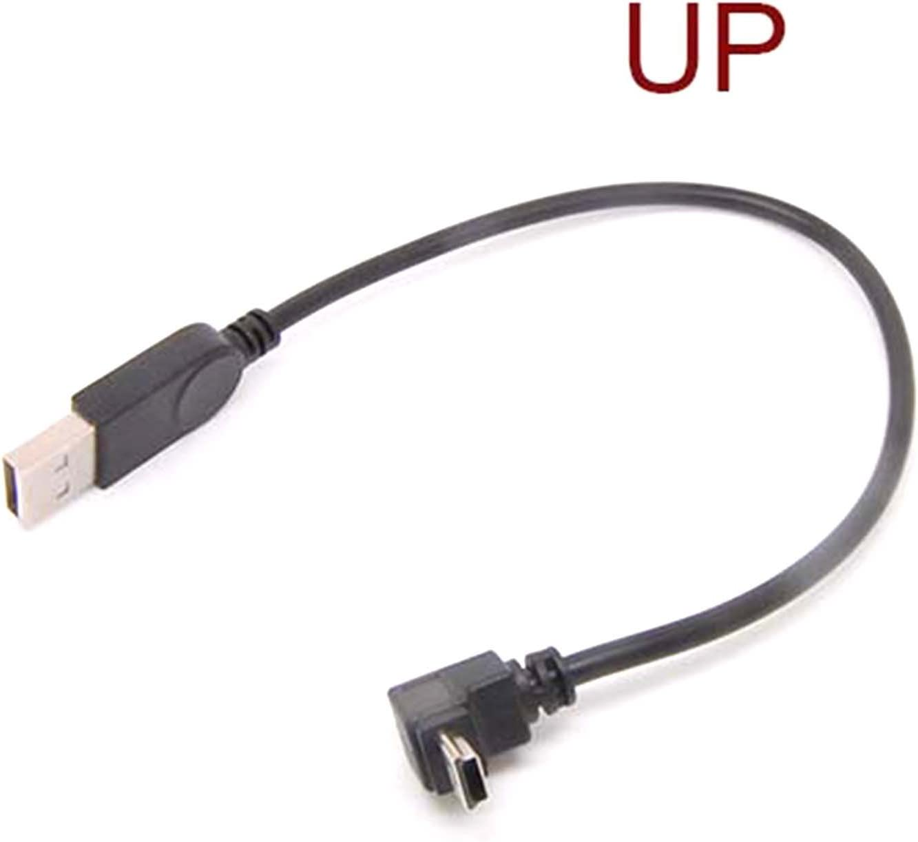 90 Degree 5pin Mini Usb Cable Usb A Male To Right Angle Mini B Male For Mp3 Mp4 Cell Phone Camera Gps Data Charger Cord Up Angle Amazon Ca Cell Phones Accessories