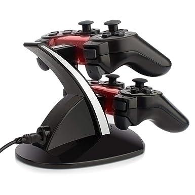 Amazon.com: Cargador controlador PS3, doble USB PS3 ...