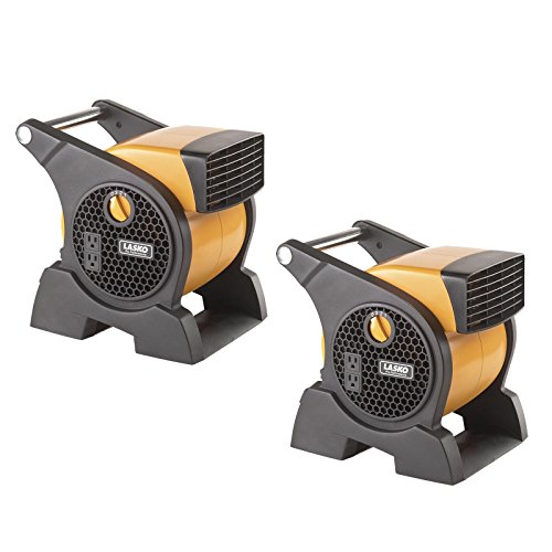- Lasko Pro Performance 3 Speed High Velocity Durable Utility Blower Fan (2 Pack)