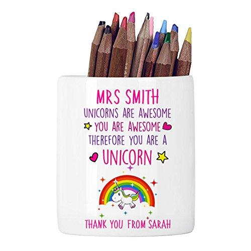 Estupendo estuche para lápices de unicornios personalizables ...