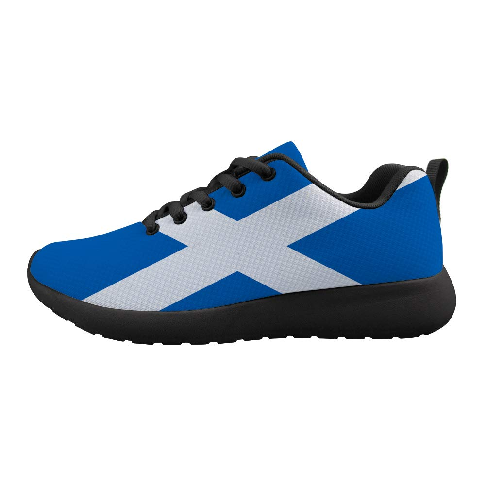 Owaheson Cushioning Sneaker Trail Running Shoe Mens Womens Scotland Flag