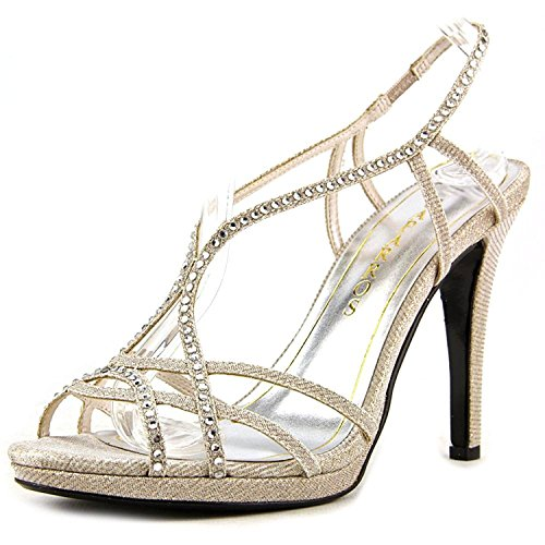 Caparros Womens Sunday Open Toe Bridal Ankle Strap Sandals Nude Glimmer OTq6Mg3qX