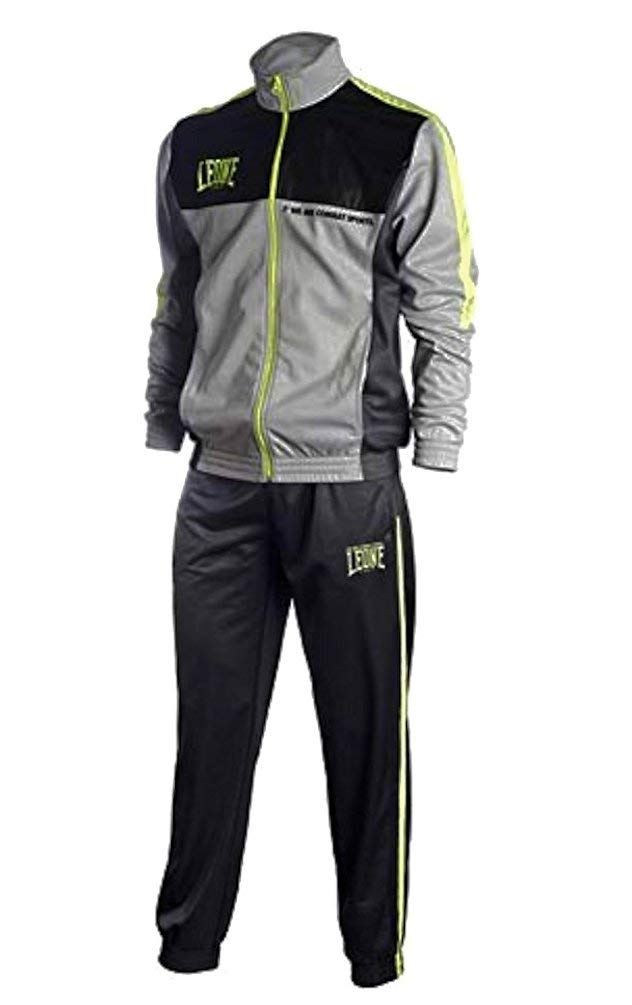 Leone 1947 Track Suit Boxing MMA UFC Muay Thai Kick Boxing K1 Karate Training Fitness (S, Light Grey)